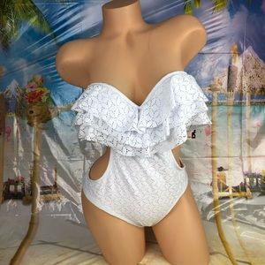 BONGO Swim - !🆕 White lace monokini one piece swimsuit